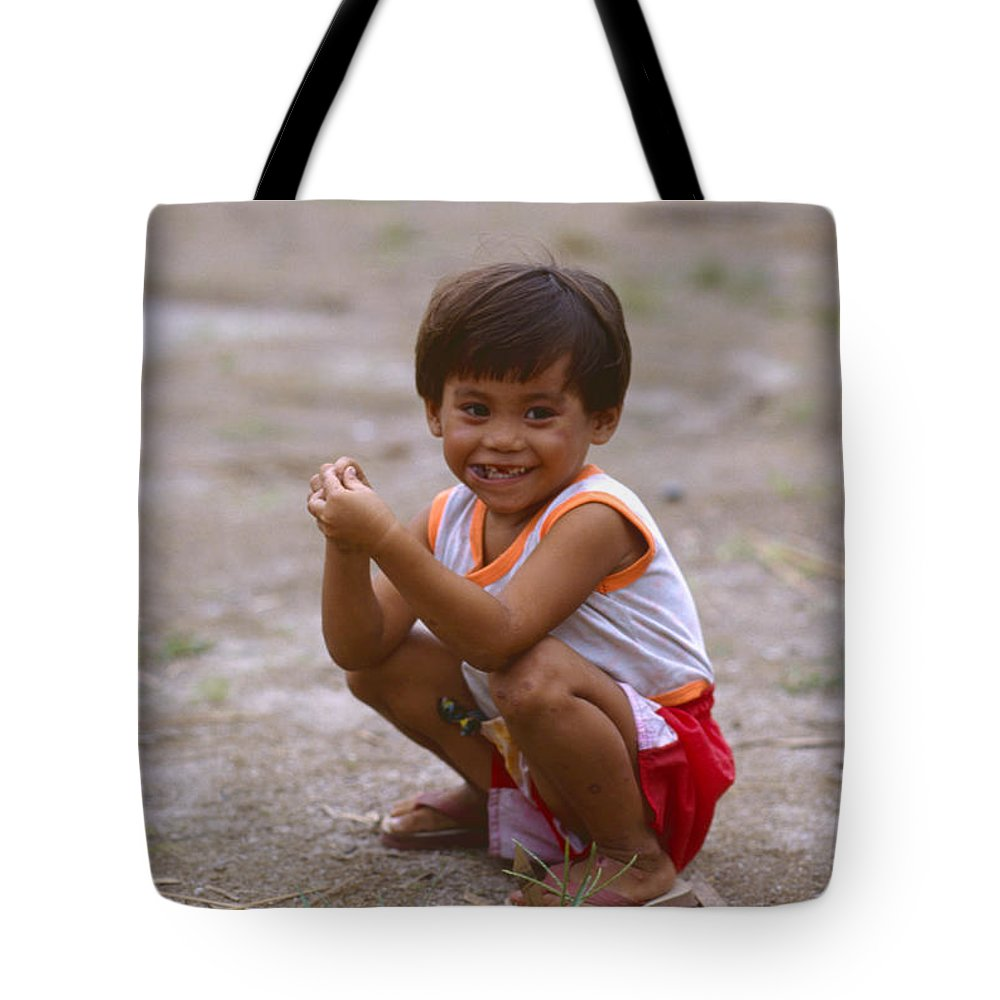 Kids Tote Bag featuring the photograph It Wasn't Me by Jon Delorme