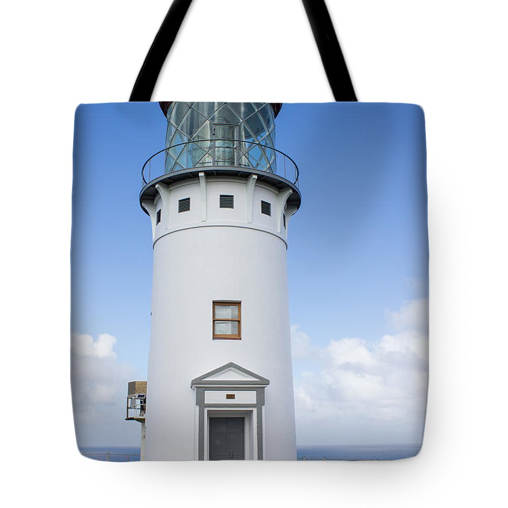 Kilauea Tote Bag featuring the photograph Kilauea Lighthouse by Suzanne Luft