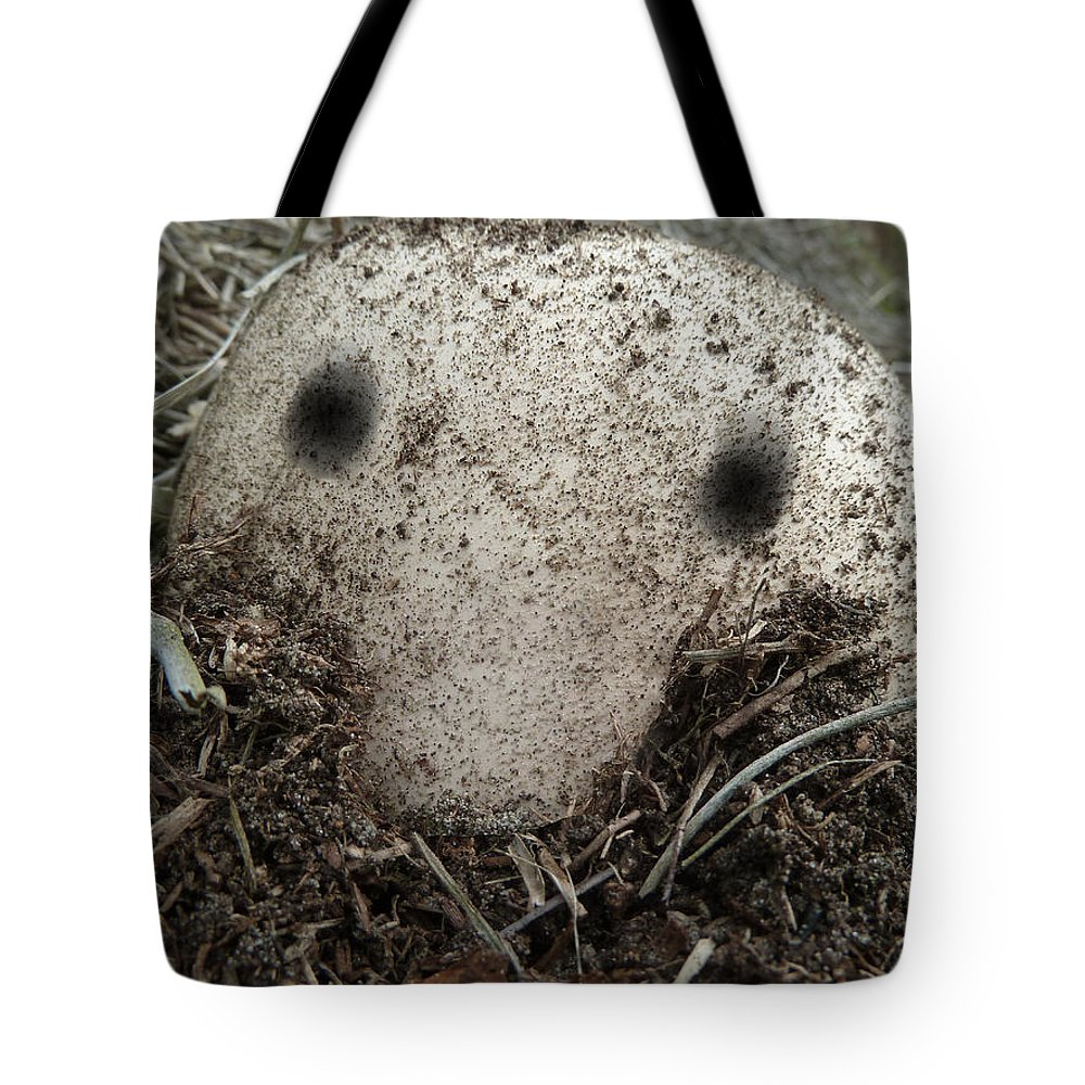 Kilroy Was Here Tote Bag featuring the photograph Kilroy Was Here by Steve Taylor
