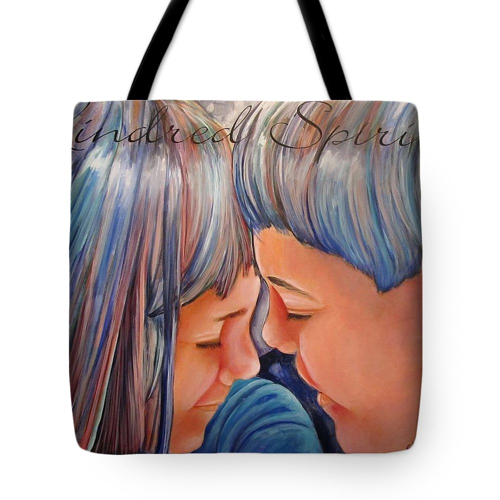 Kindred Tote Bag featuring the painting Kindred Spirits II by Carol Allen Anfinsen
