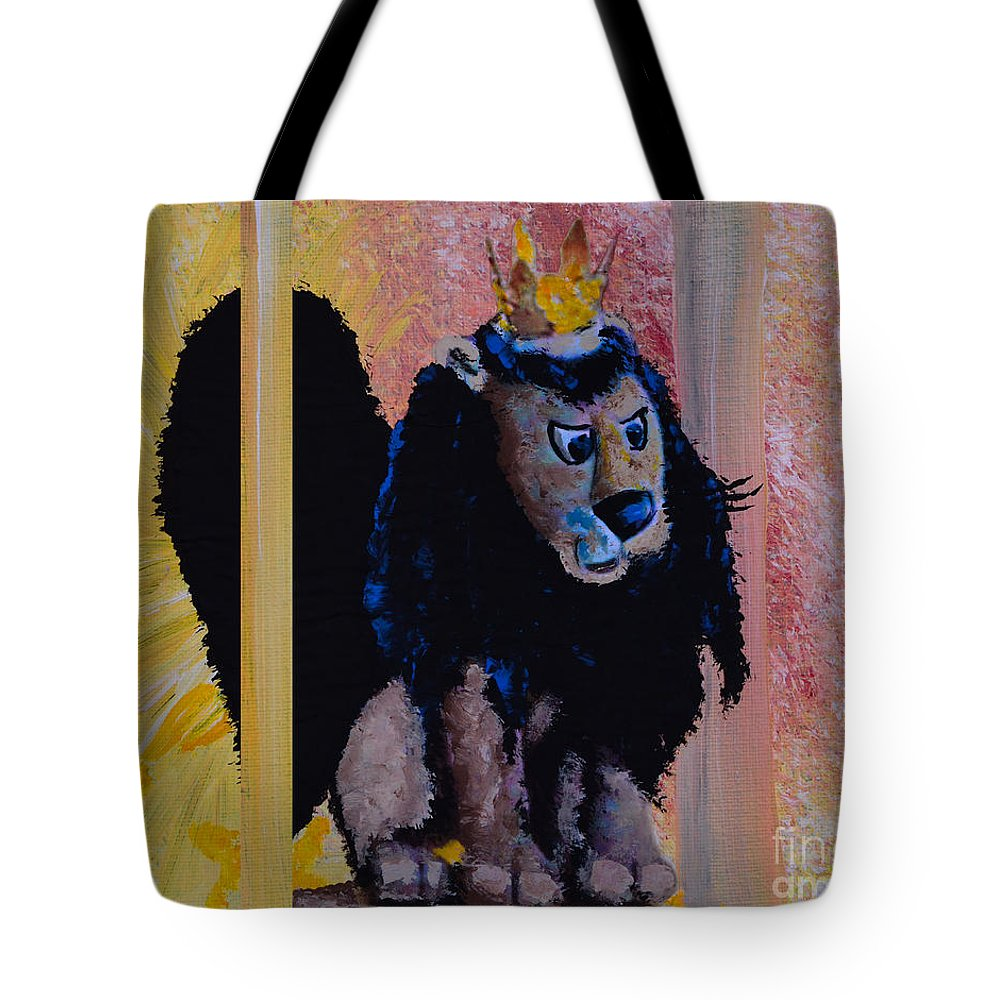 Rudolph The Red-nosed Reindeer Tote Bag featuring the painting King Moonracer by Alys Caviness-Gober