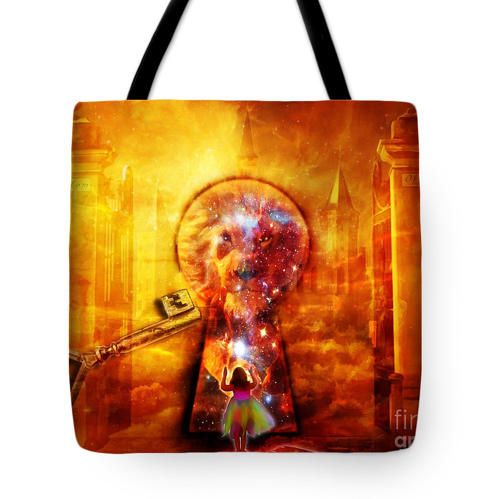 Kingdom Of Heaven Lion Of Judah Worship Holy City Tote Bag featuring the digital art Kingdom Of Heaven by Dolores Develde