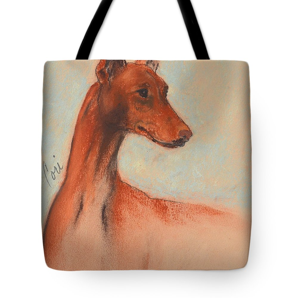 Pastel Tote Bag featuring the drawing King's Treasure by Cori Solomon