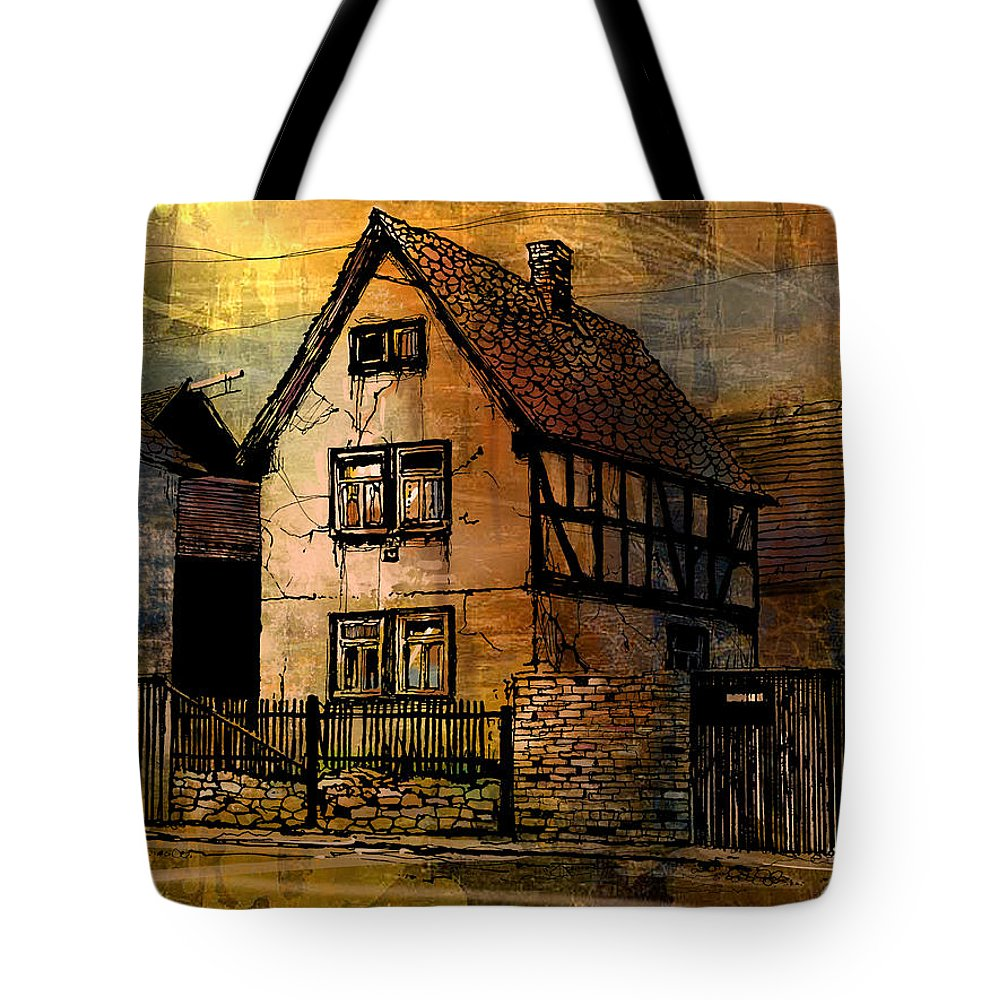 Germany Tote Bag featuring the painting Kirch Gons by Paul Sachtleben