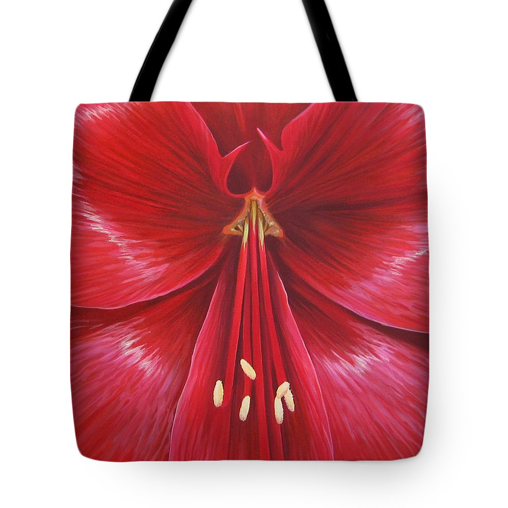 Botanical; Flower Tote Bag featuring the painting Kiss Of Life by Hunter Jay