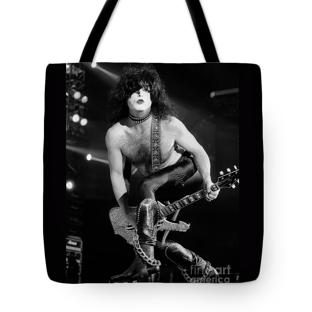 Paul Stanley Tote Bag featuring the photograph Kiss-paul-gp32 by Timothy Bischoff
