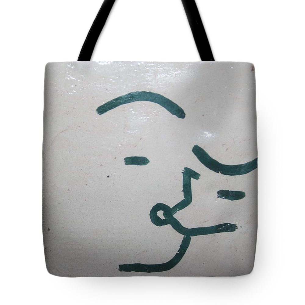Jesus Tote Bag featuring the ceramic art Kisses - Tile by Gloria Ssali