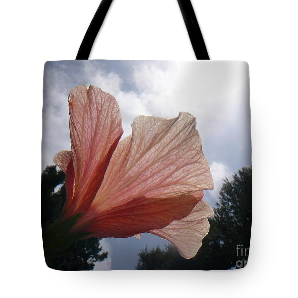 La Costa Tote Bag featuring the photograph Kissing Clouds by Mary Brhel