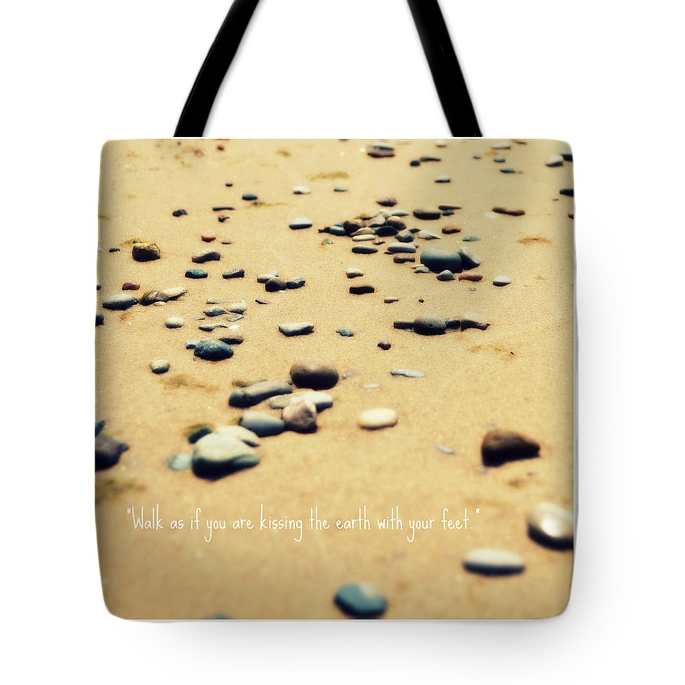 Stones Tote Bag featuring the photograph Kissing The Earth by Poetry and Art