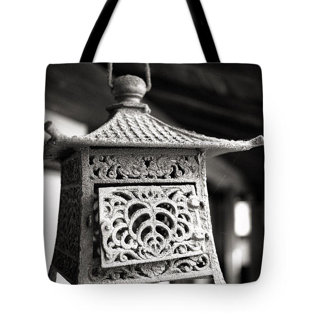 Candy Street Tote Bag featuring the photograph Kita-in Temple Iron Lantern In Kawagoe by For Ninety One Days