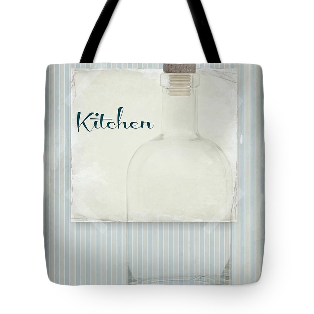 Kitchen Tote Bag featuring the mixed media Kitchen Image by Heike Hultsch