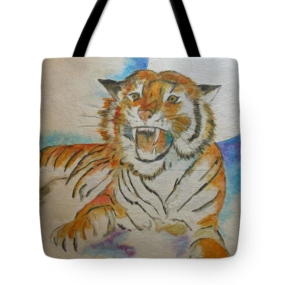 Abstract Tote Bag featuring the painting Kitty Mine by Lord Frederick Lyle Morris - Disabled Veteran