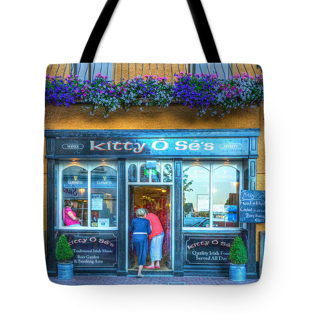 Ireland Tote Bag featuring the photograph Kitty's In Kinsale Ireland by James Gordon Patterson
