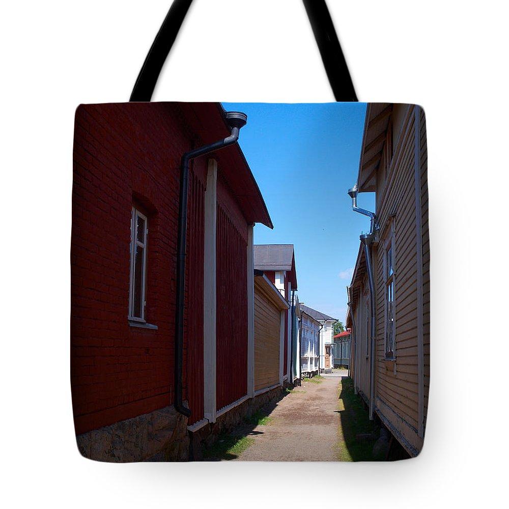 Finland Tote Bag featuring the photograph Kitukrann Old Rauma by Jouko Lehto
