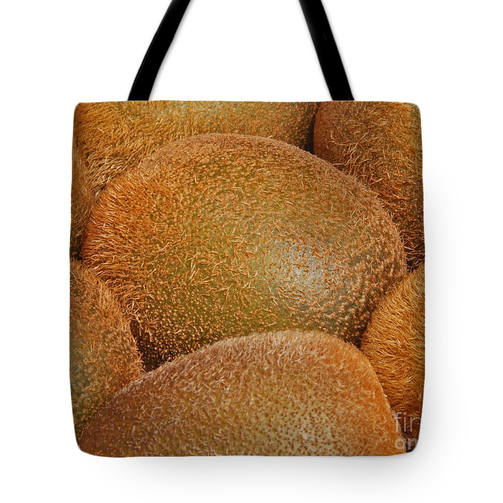 Actinidia Tote Bag featuring the photograph Kiwi Fruit by Marv Vandehey