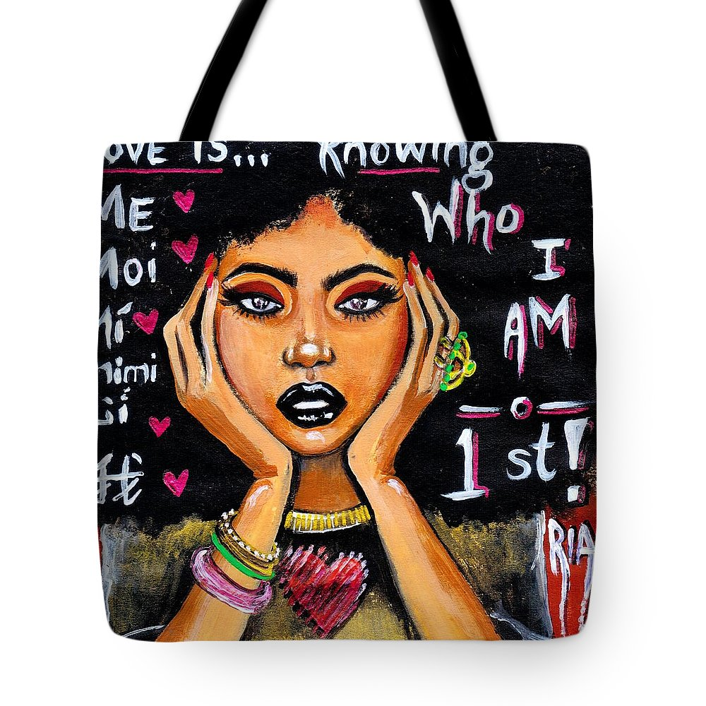 Artbyria Tote Bag featuring the photograph Know Yourself by Artist RiA