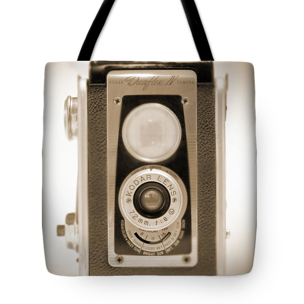 Vintage Camera Tote Bag featuring the photograph Kodak Duaflex Iv Camera by Mike McGlothlen