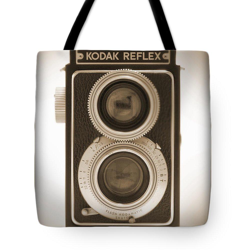 Classic Reflex Camera Tote Bag featuring the photograph Kodak Reflex Camera by Mike McGlothlen