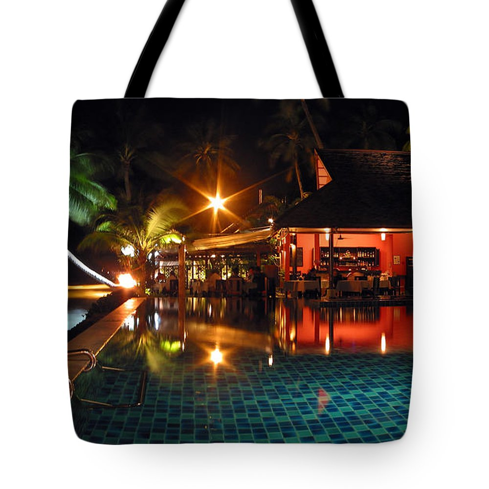 3scape Tote Bag featuring the photograph Koh Samui Beach Resort by Adam Romanowicz