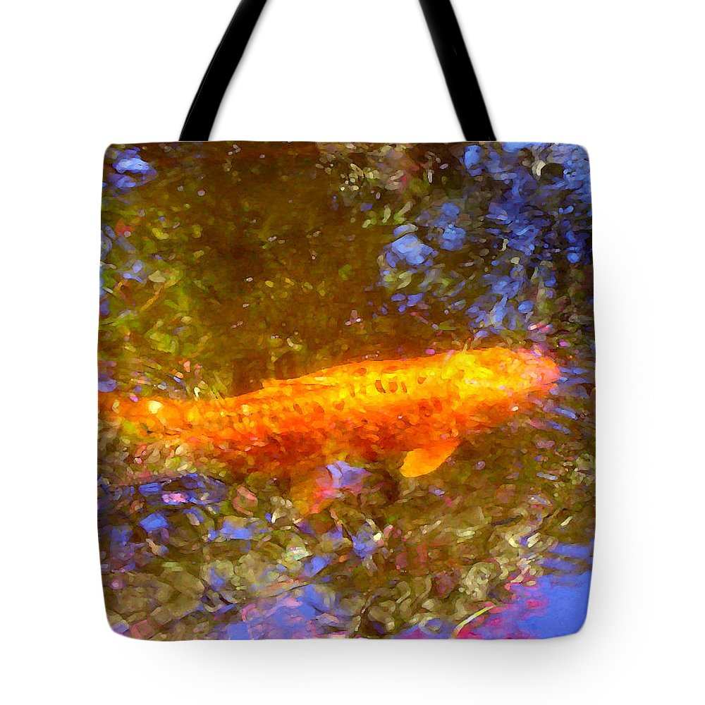 Animal Tote Bag featuring the painting Koi Fish 2 by Amy Vangsgard