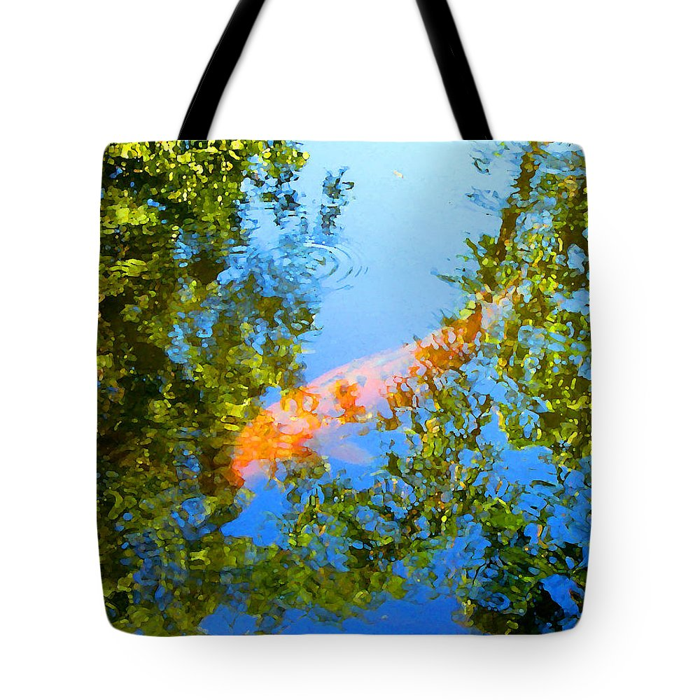 Animal Tote Bag featuring the painting Koi Fish 3 by Amy Vangsgard