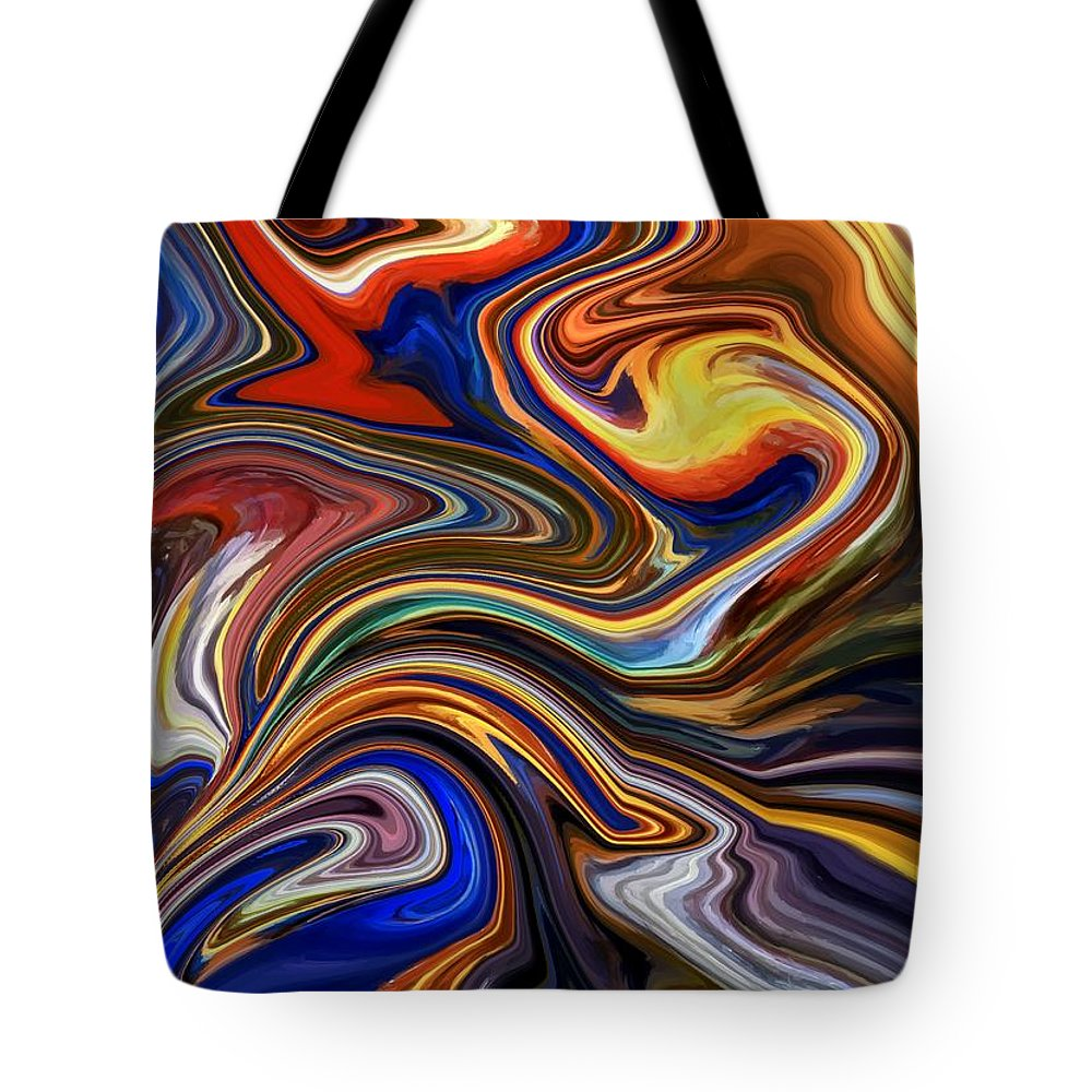 Koi Tote Bag featuring the digital art Koi Pond by Chris Butler