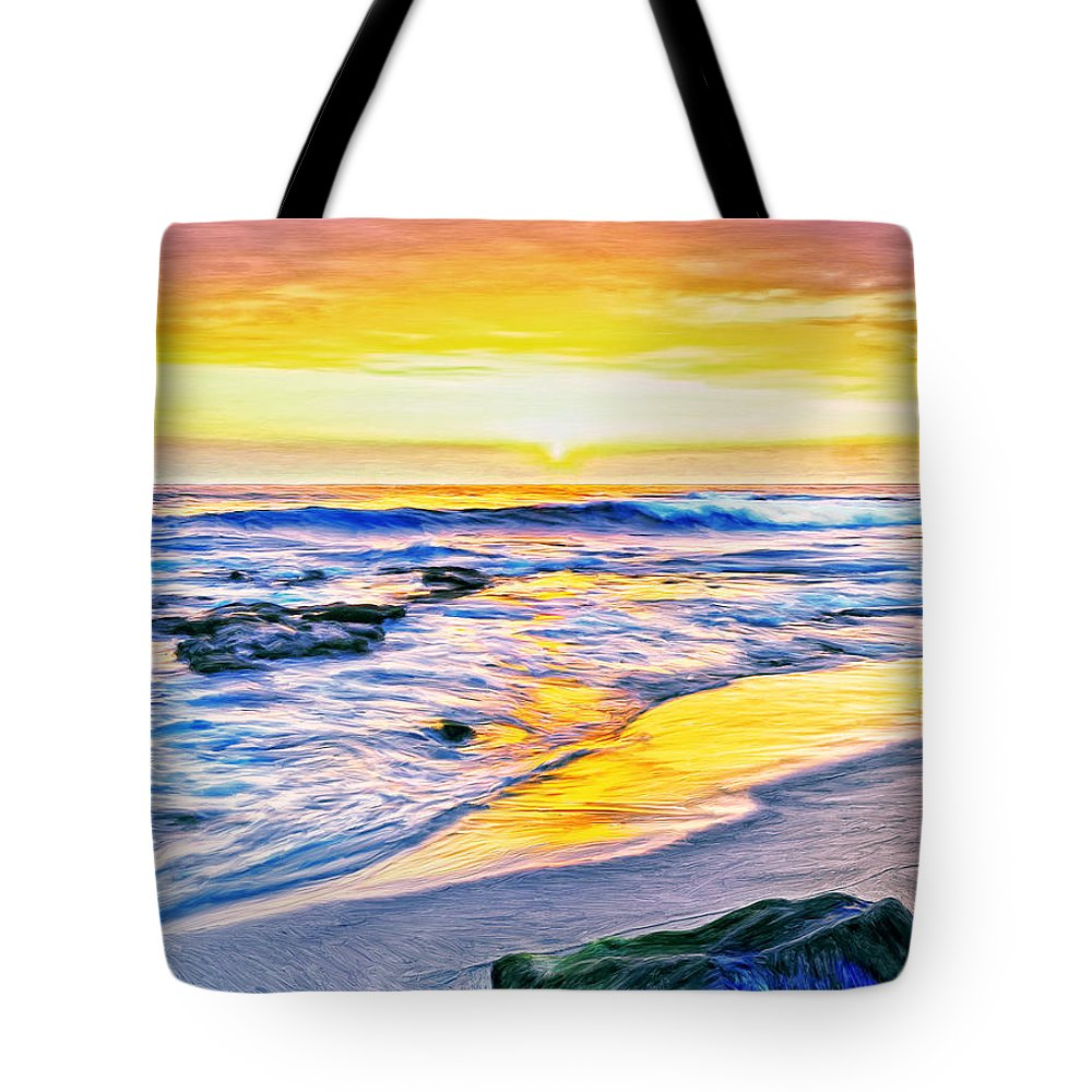 Kona Coast Sunset Tote Bag featuring the painting Kona Coast Sunset by Dominic Piperata