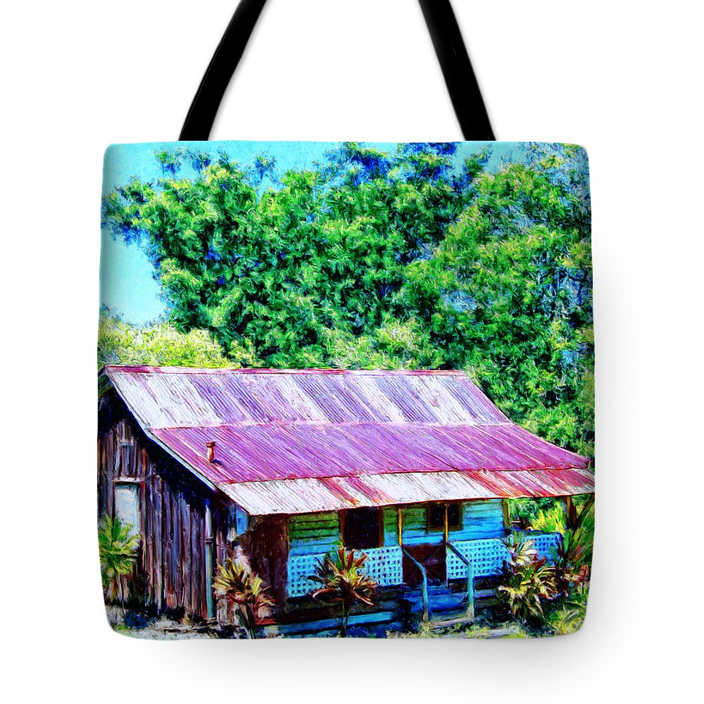 Kona Coffee Shack Tote Bag featuring the painting Kona Coffee Shack by Dominic Piperata