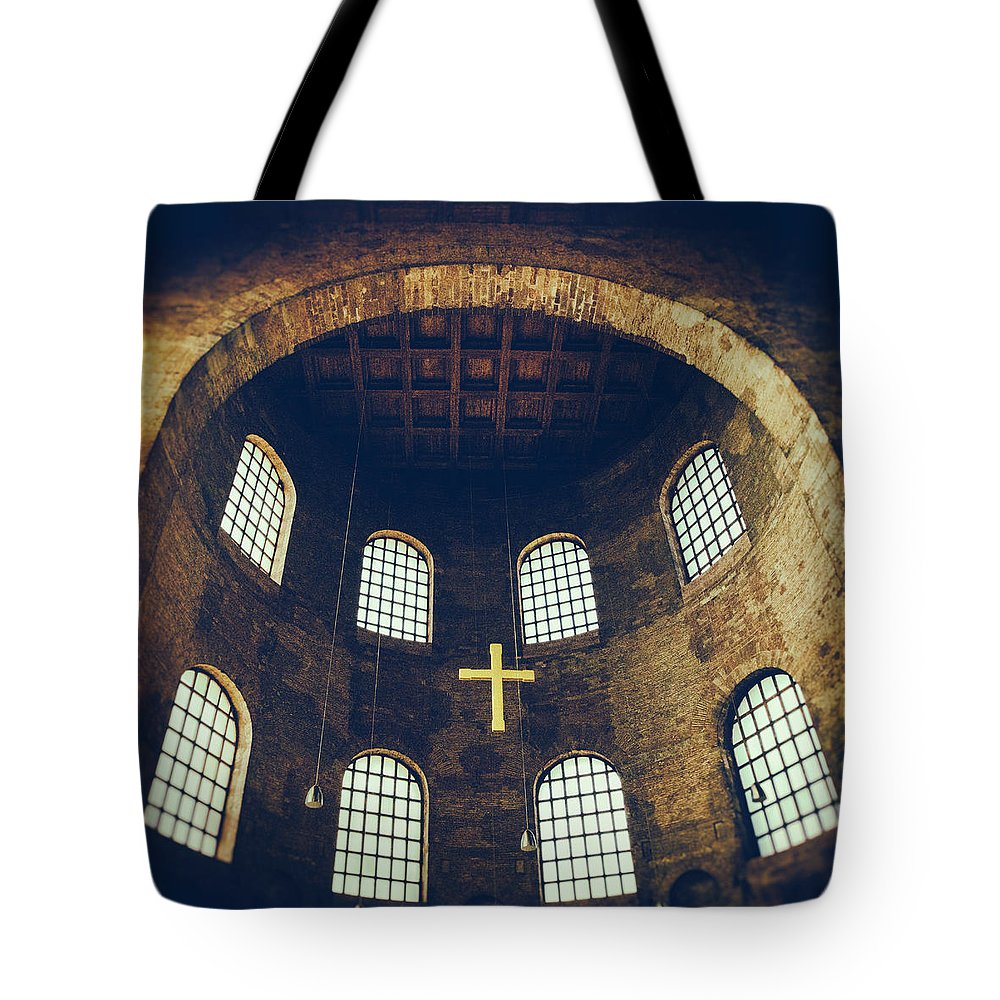 Ade Tote Bag featuring the photograph Konstantin Basilika by TouTouke A Y
