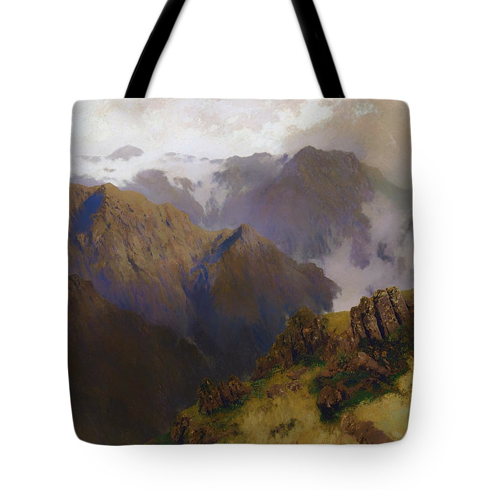 Painting Tote Bag featuring the painting Koscuisko by Mountain Dreams