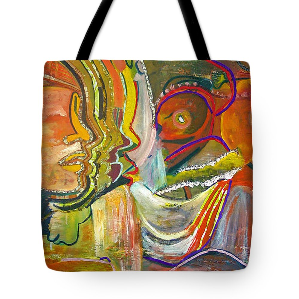 Impressionism Tote Bag featuring the painting Koulikoro Woman by Peggy Blood