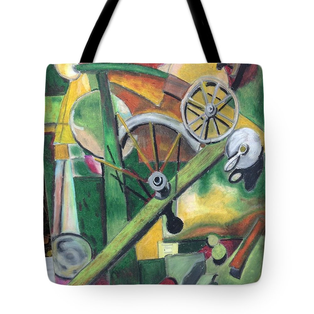 Lacma Tote Bag featuring the drawing Kurtlacma by Regina Jeffers