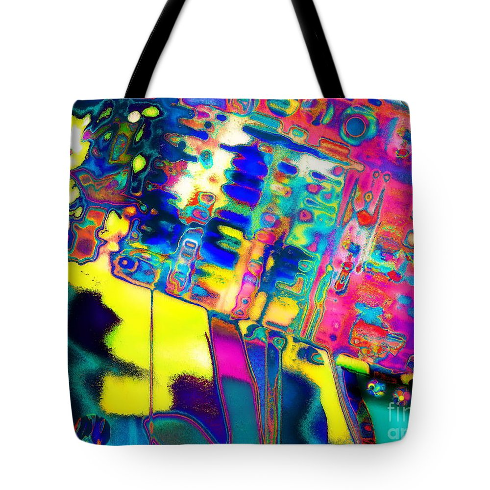 Contemporary Colorful Abstract Expressionist Artwork Tote Bag featuring the photograph K.w.w.prism by Expressionistart studio Priscilla Batzell