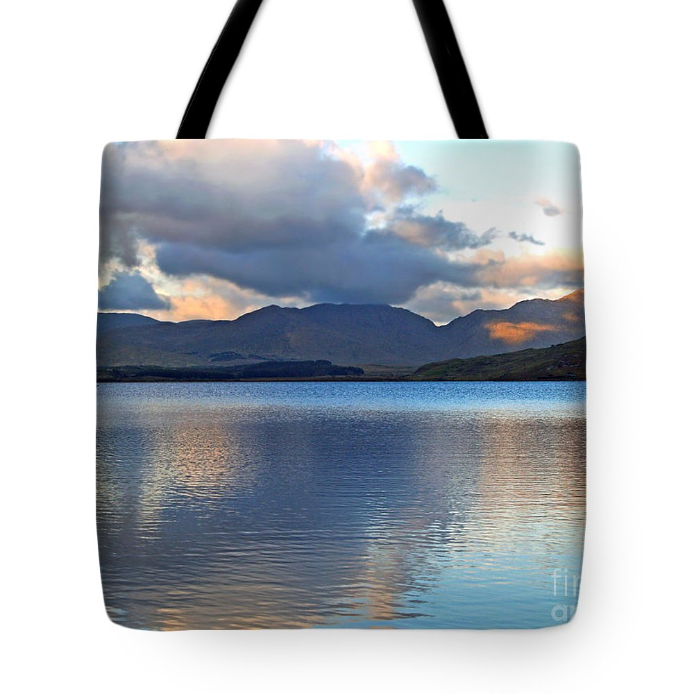 Fine Art Photography Tote Bag featuring the photograph On The Banks Of Kylemore Lake by Patricia Griffin Brett