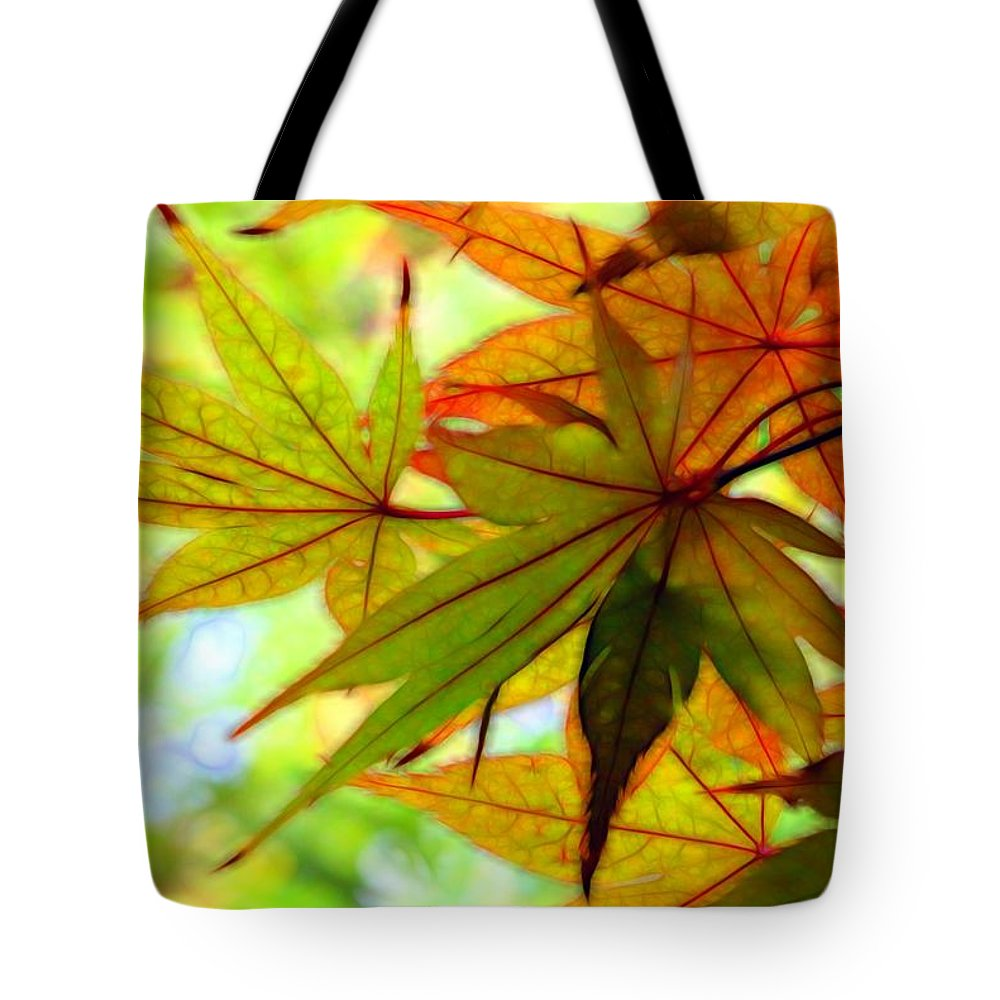 Kyoto Tote Bag featuring the photograph Kyoto's Beauty Of Autumn by Karen Jensen