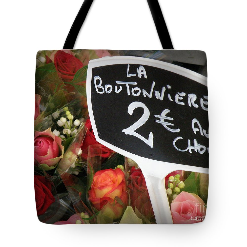 Lily Of The Valley Tote Bag featuring the photograph La Boutonniere by Lainie Wrightson