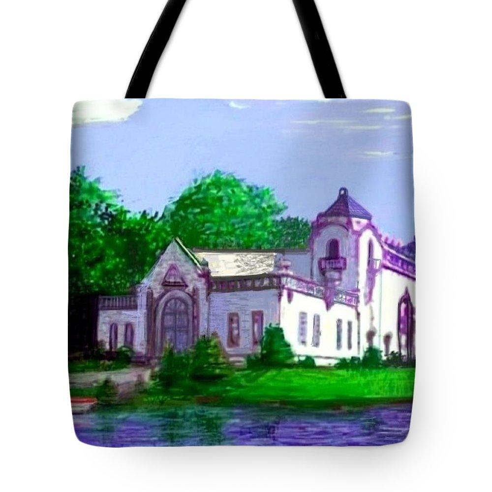 Art Tote Bag featuring the painting La Casa Grande by Larry E Lamb