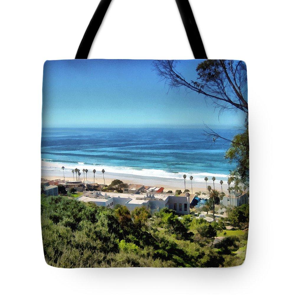 Beach Tote Bag featuring the painting La Jolla Beach by Ann Powell
