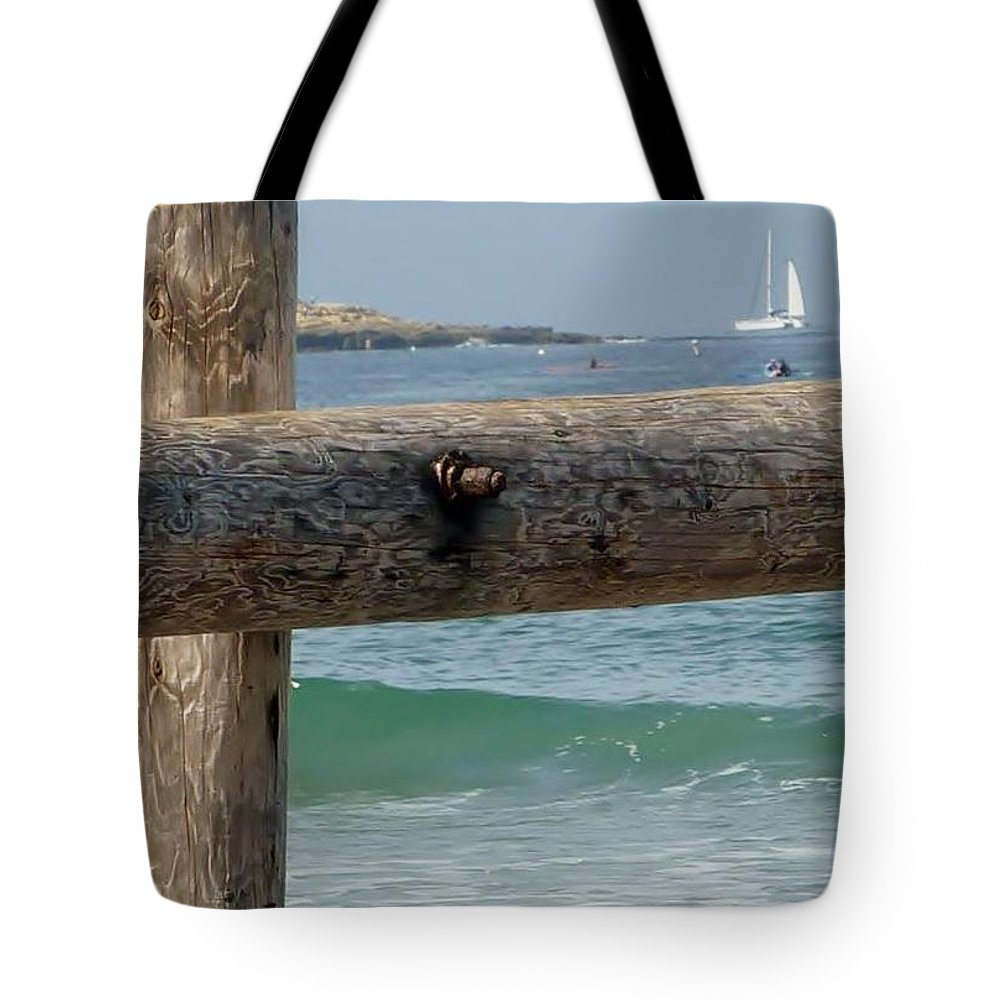 Waves Tote Bag featuring the photograph La Jolla Scene by Susan Garren