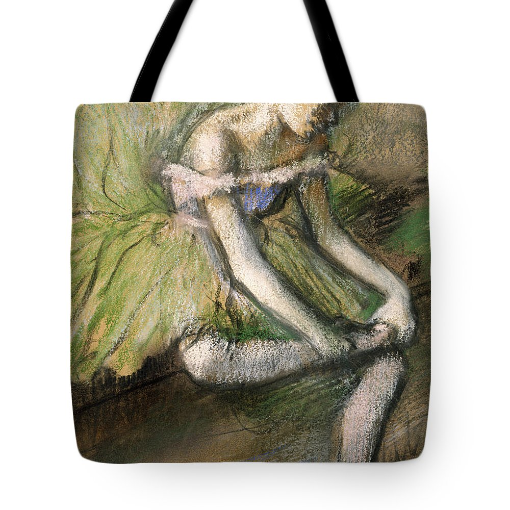Girl Tote Bag featuring the painting La Jupe Verte by Edgar Degas