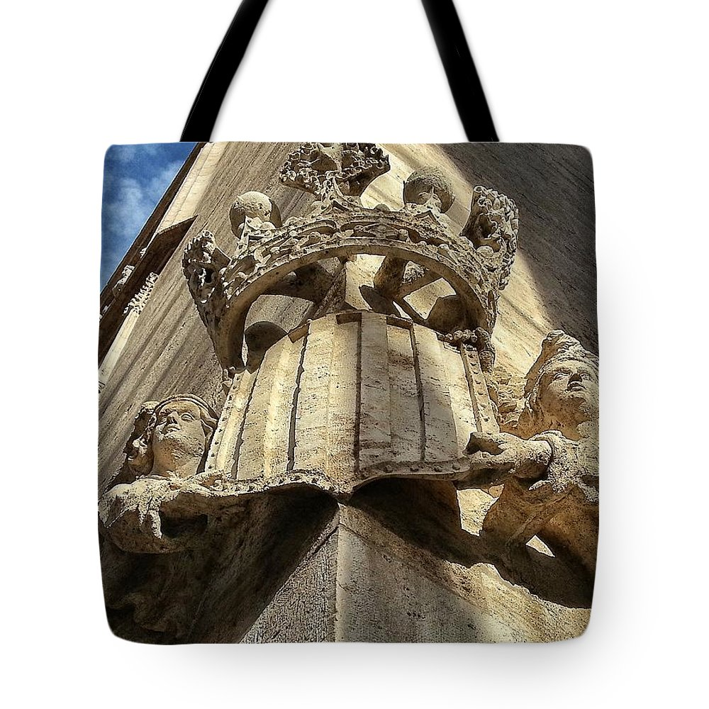 Unesco Tote Bag featuring the photograph La Lonja Angels by For Ninety One Days