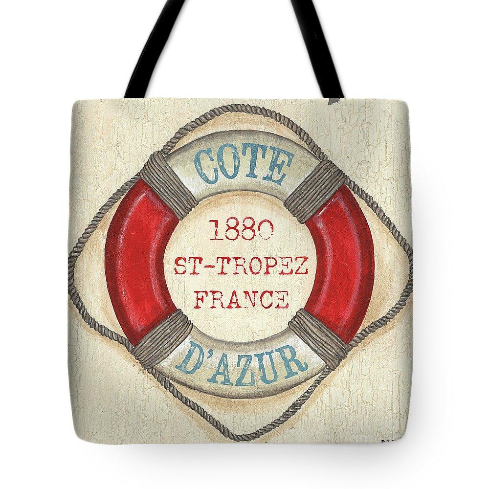 Coastal Tote Bag featuring the painting La Mer Cote D'azur by Debbie DeWitt