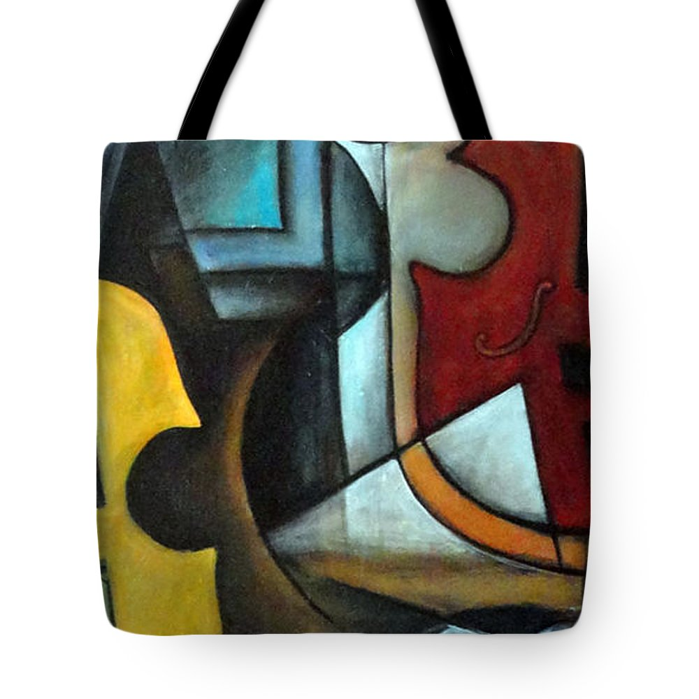 Abstract Tote Bag featuring the painting La Musique 1 by Valerie Vescovi