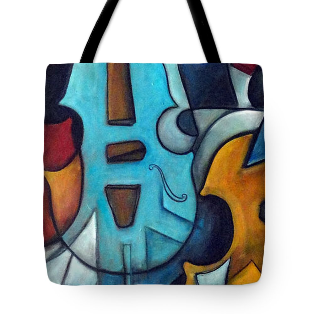 Music Tote Bag featuring the painting La Musique 2 by Valerie Vescovi
