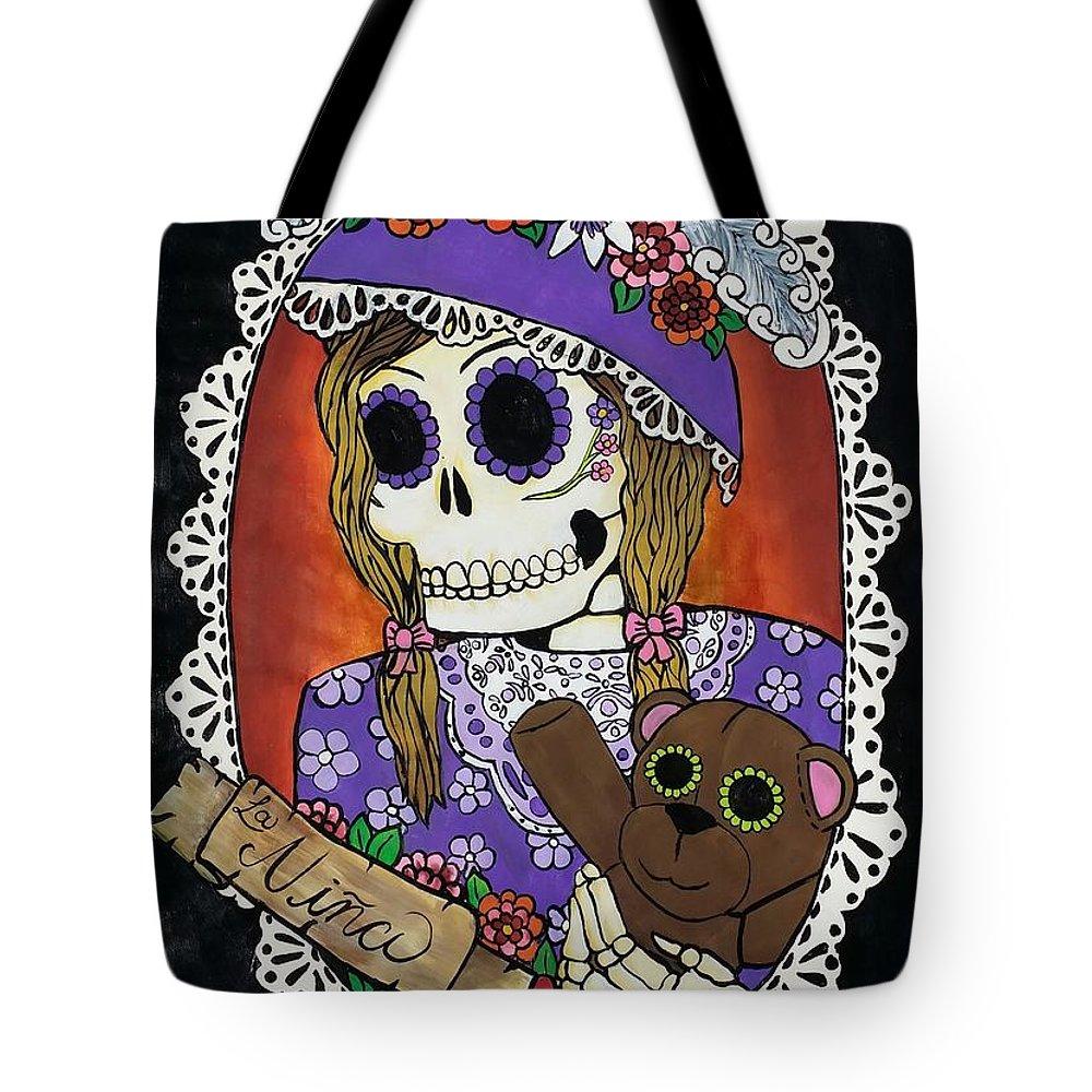Nina Tote Bag featuring the painting La Nina by Jessica Venzor