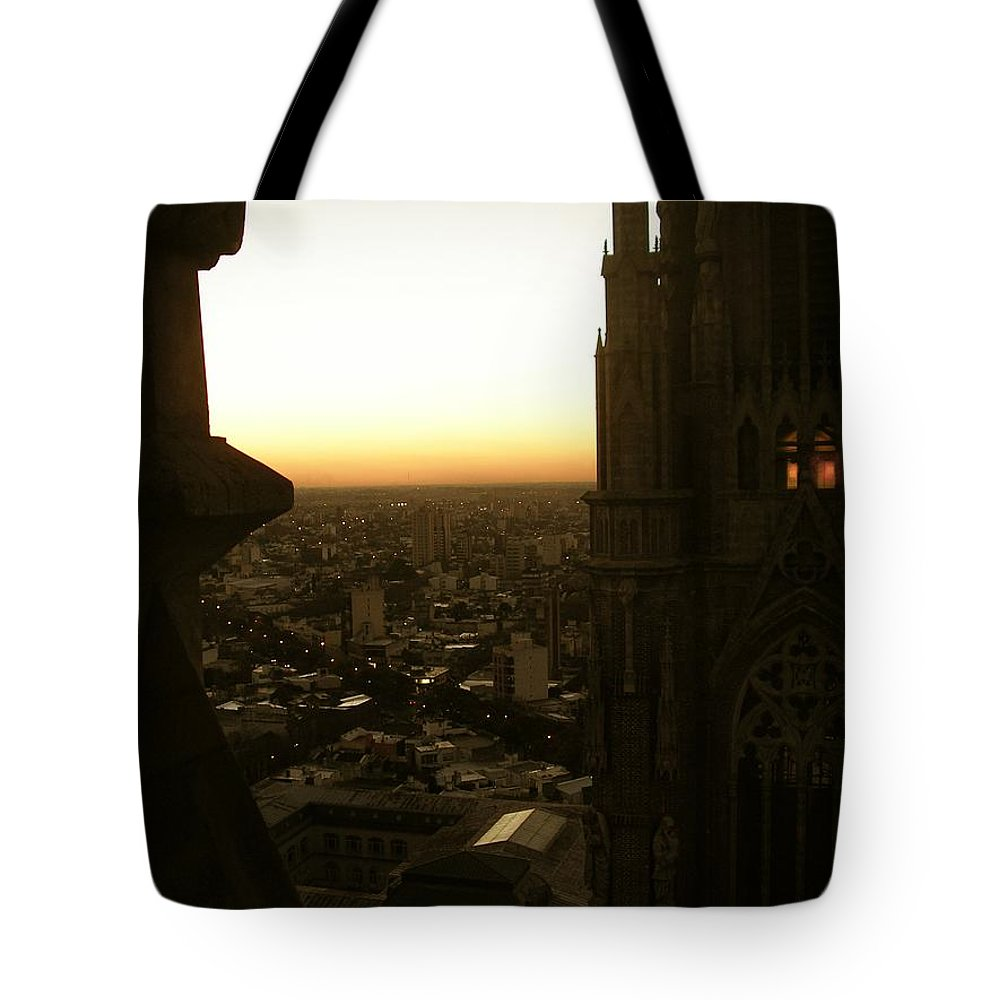 Cathedral Tote Bag featuring the photograph La Plata - Cathedral by Marcello Cicchini