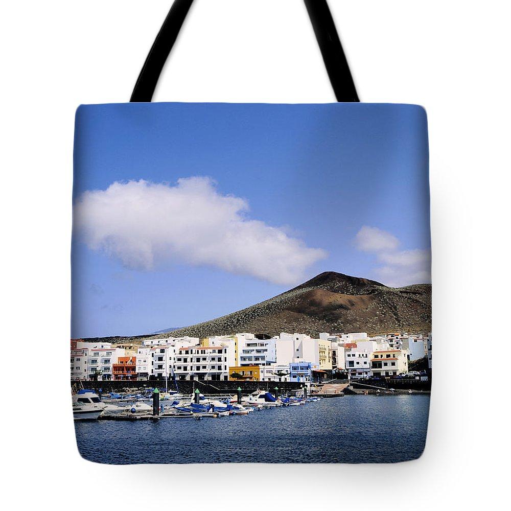 Harbor Tote Bag featuring the photograph La Restinga by Karol Kozlowski