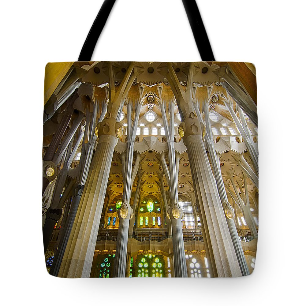 Spain Tote Bag featuring the photograph La Sagrada Familia Iv by Jack Daulton