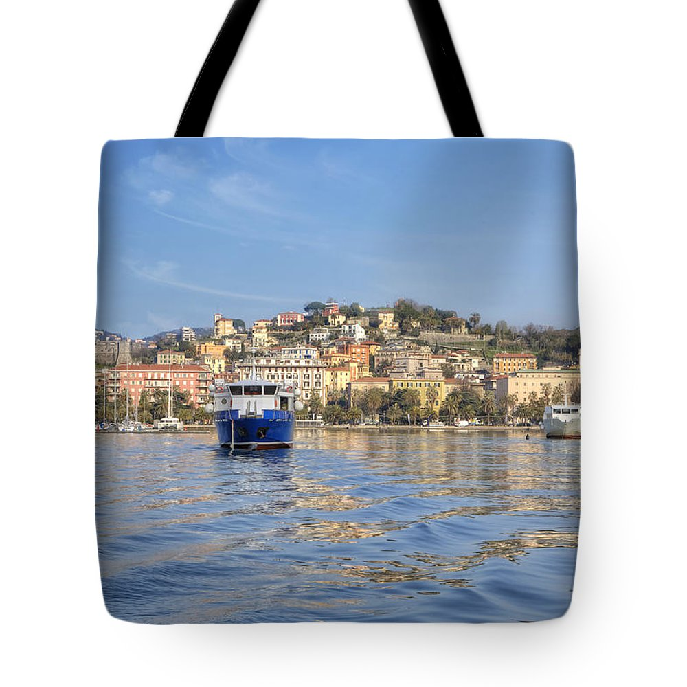 La Spezia Tote Bag featuring the photograph La Spezia by Joana Kruse