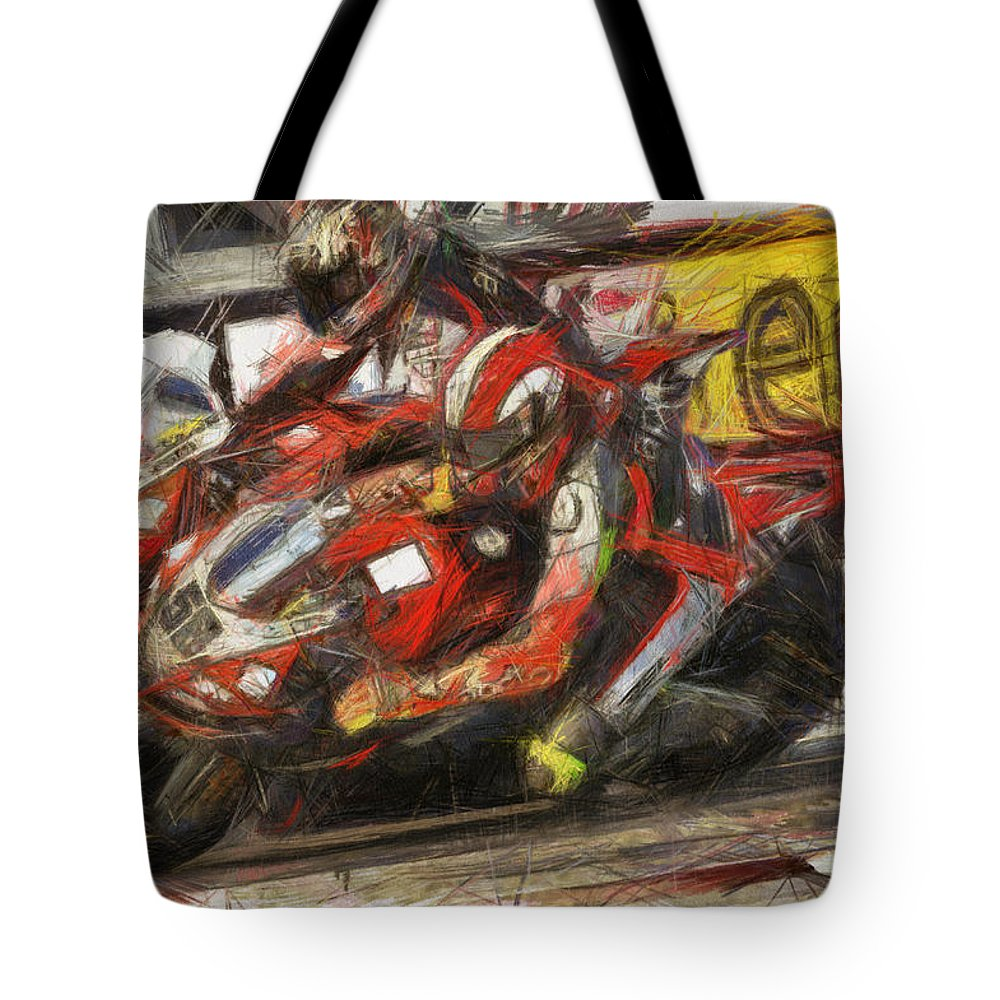 Sic Tote Bag featuring the painting La Staccata by Tano V-Dodici ArtAutomobile
